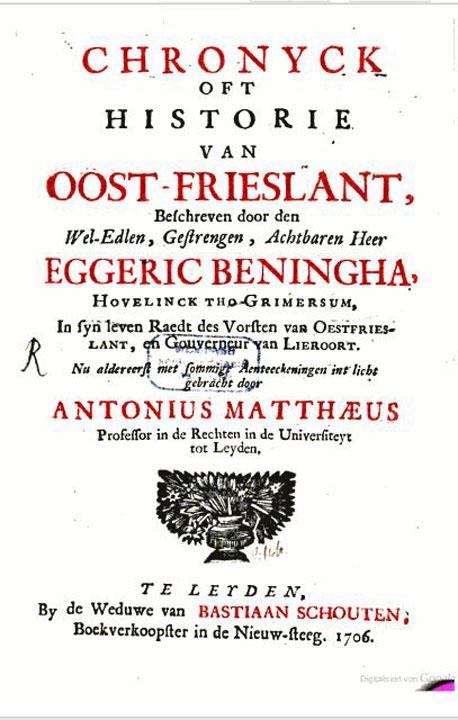 01 Chronik Ostfriesland von E. Beningha