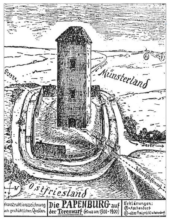02 Die Papenburg um 1400