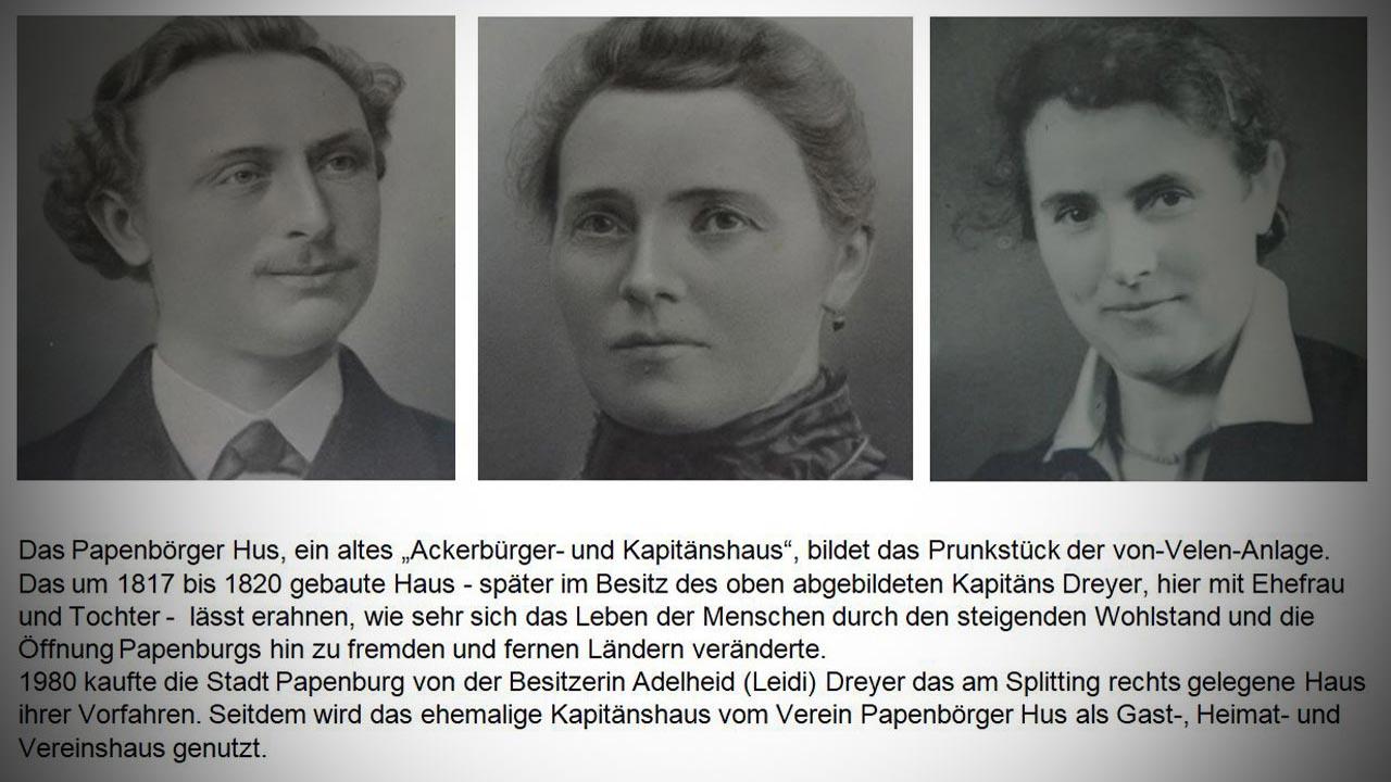 Kapitän Dreyer mit Ehefrau und Tochter